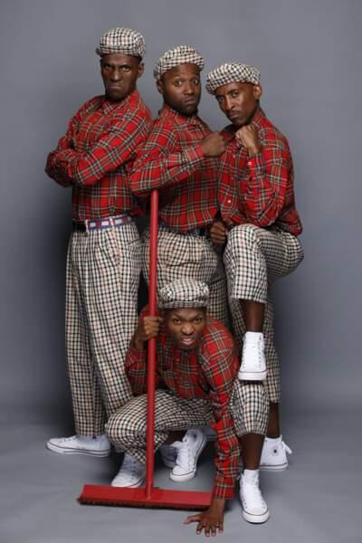 Les danseurs du groupe Red Devils