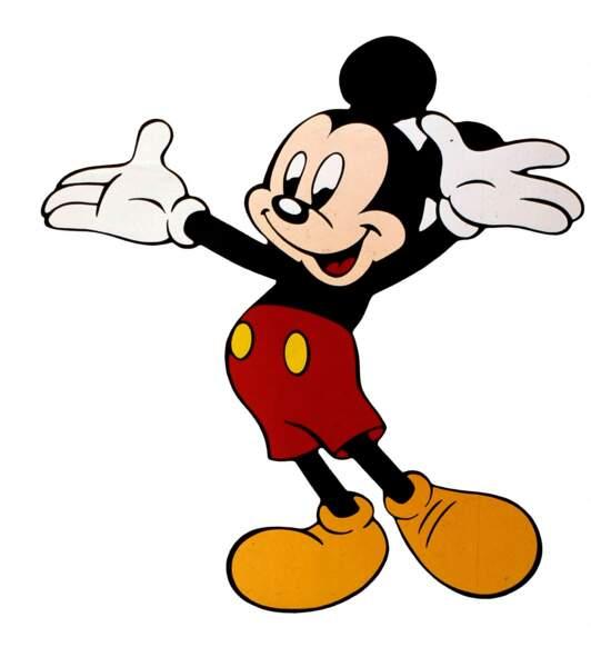 Dans les années 50, Mickey est intégralement colorisé