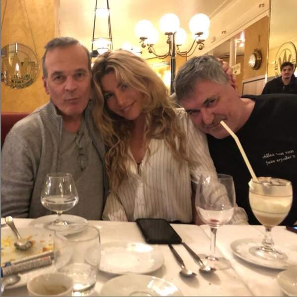 Avec leur cher ami, Laurent Baffie.