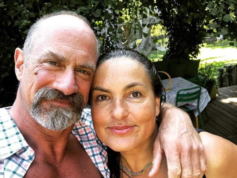 Retrouvailles entre Mariska Hargitay et Christopher Meloni, anciens acolytes de New York Unité Spéciale.