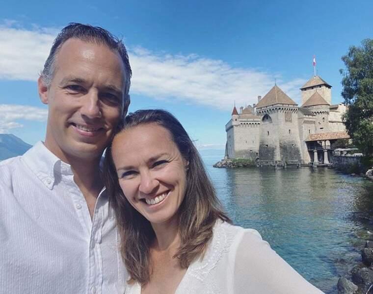 La sportive Marina Hingins et son mari Harald ont fait une balade en amoureux au Château Chillon en Suisse.