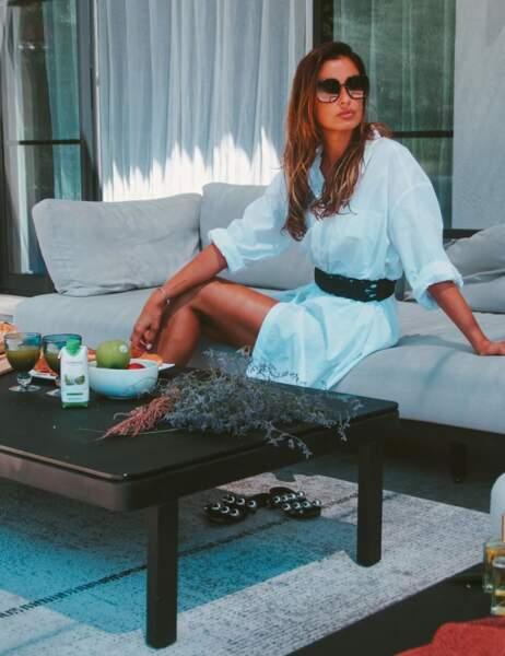 Malika Menard a profité de ses vacances à Saint-Tropez
