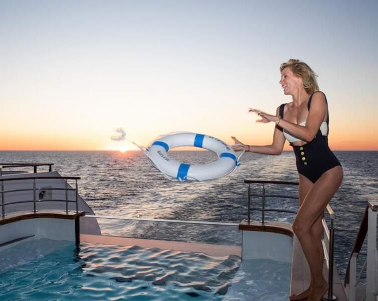 Sylvie Tellier profite de ses vacances en famille