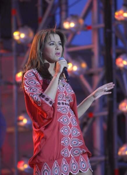 En juin 2007, tenue colorée au concert de la Fête de la musique.
