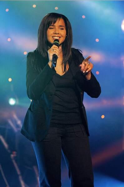 Chimène Badi en mai 2003. Elle vient d'être révélée par l'émission Popstars.