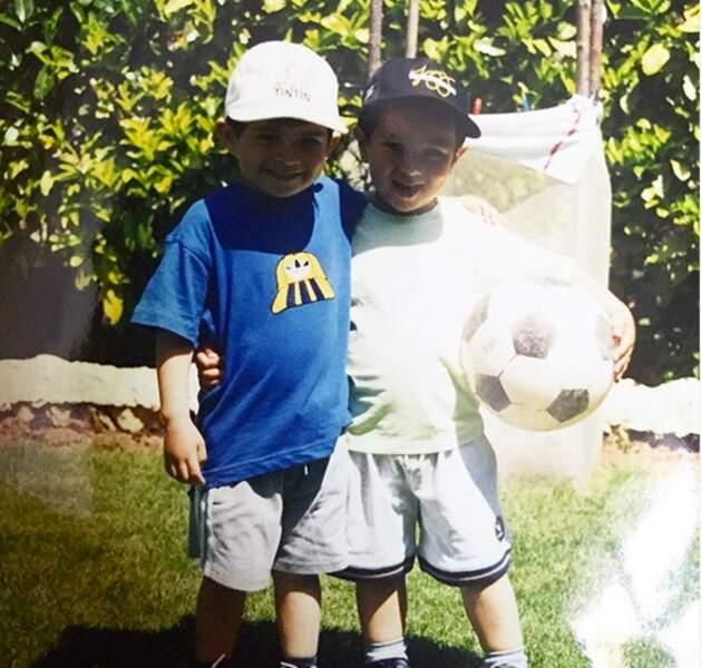 Enzo et un cousin, il y a quelques années...