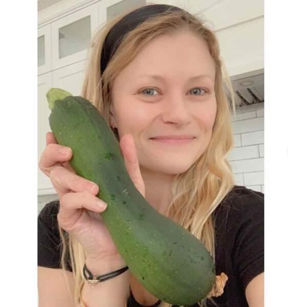 Côté légumes, Emilie De Ravin a de quoi faire.