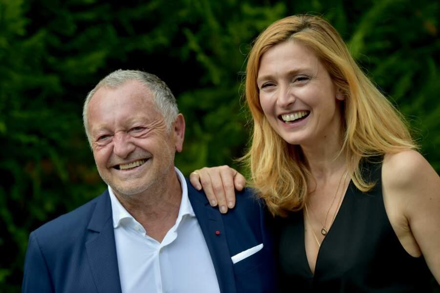 Jean-Michel Aulas, le président de l'OL, complice avec Julie Gayet