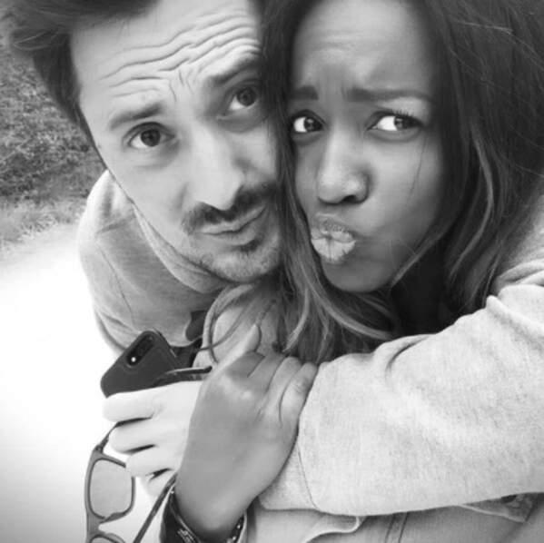 Deux autres selfies plein d'amour : Vincent Cerutti et Hapsatou Sy...
