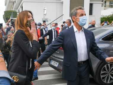 Carla Bruni, Nicolas Sarkozy et leur fille Giulia à la Baule