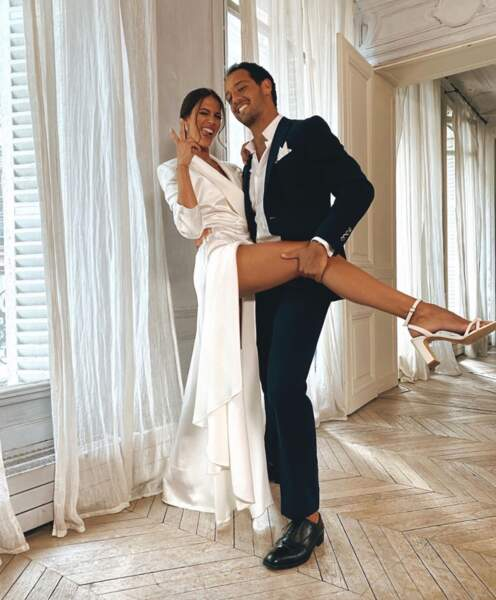 Et tenues de gala pour Iris Mittenaere et son conjoint Diego.