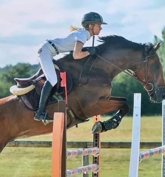 Notamment sa passion pour l'équitation