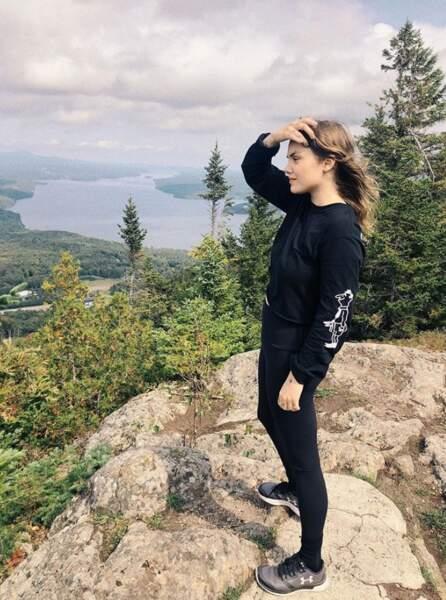 Et la vue était belle pour Cœur de Pirate à la montagne.