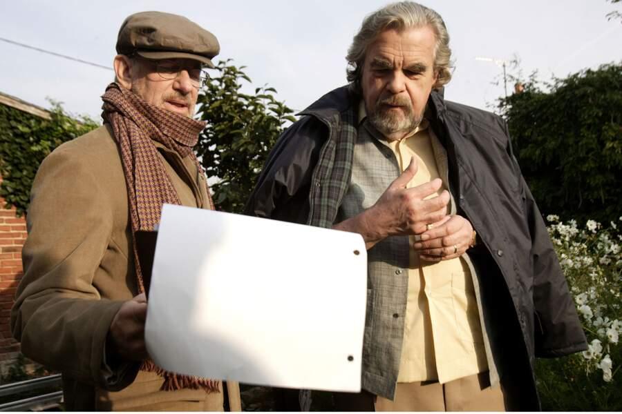 """Avec Steven Spielberg sur le tournage de """"Munich"""" en 2005"""