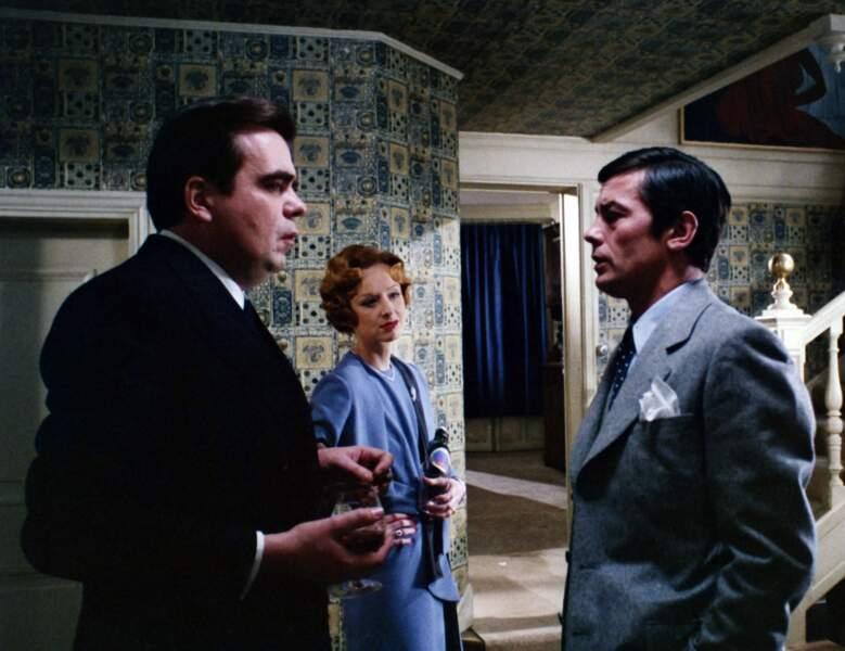 """Avec Alain Delon dans le film de Joseph Losey """"Monsieur Klein"""" en 1976"""