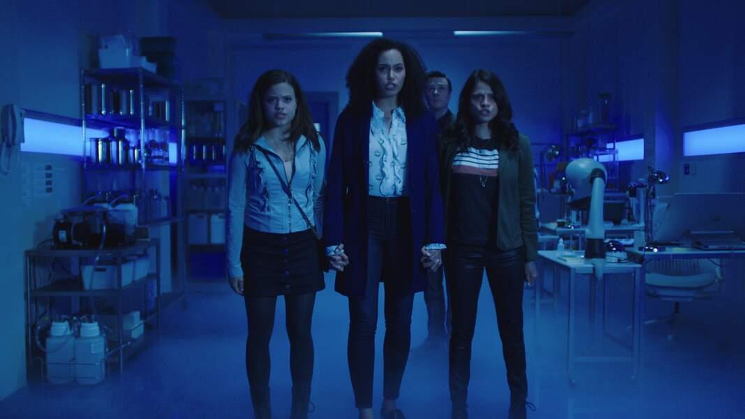 Voici les nouvelles interprètes des sœurs au pouvoir des Trois : Sarah Jeffery (Maggie Vera), Madeleine Mantock (Macy Vaughn) et Melonie Diaz (Mel Vera)