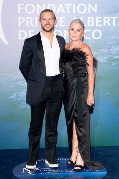 La milliardaire britannique Lady Tina Green aux côtés de son fils Brandon