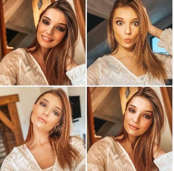 Collage de selfies pendant le confinement de Miss Pays de la Loire 2020