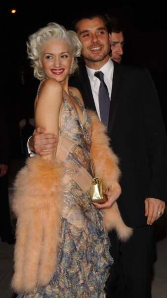La voici façon Marilyn Monroe en 2004 avec son ex-mari Gavin Rossdale.