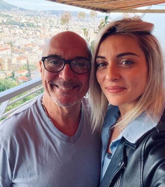 Priscilla Betti a posé avec son papa, Jean-Pierre.
