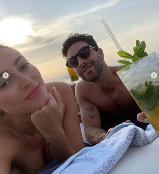 Cocktails en couple pour Rachel Legrain-Trapani et Valentin Léonard.