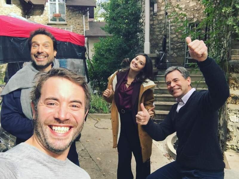 Sourires en pagaille pour les acteurs de la série, visiblement ravis de retrouver leurs personnages !