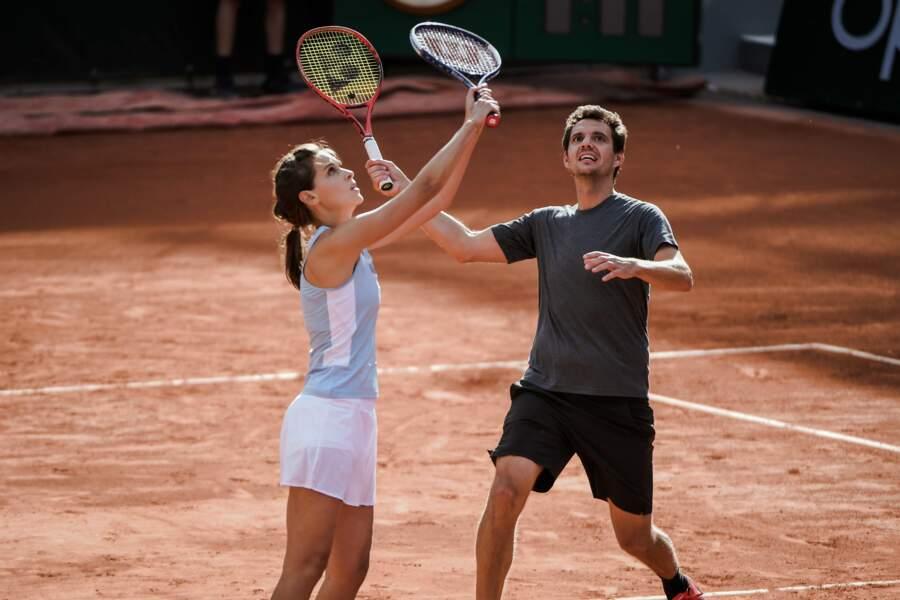 Le duo s'est montré particulièrement inspiré sur la terre battue de Roland-Garros lors de la deuxième édition du tournoi Stars, set et match.