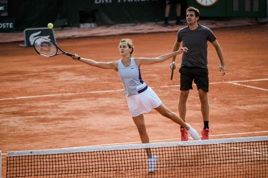 Offrant parfois des volées gagnantes dont même Serena Williams aurait pu être jalouse !