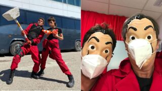 La Casa de Papel (Netflix) : Le Professeur, Tokyo, Rio, Raquel…Ils s'éclatent sur le tournage de la saison 5 ! (PHOTOS)