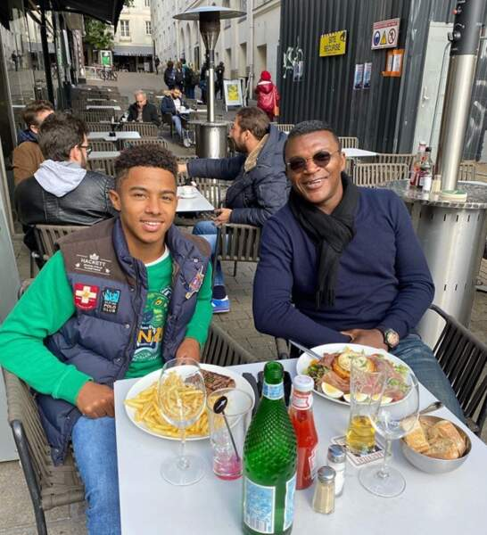 Rare photo de Marcel Desailly et son fils Vince.