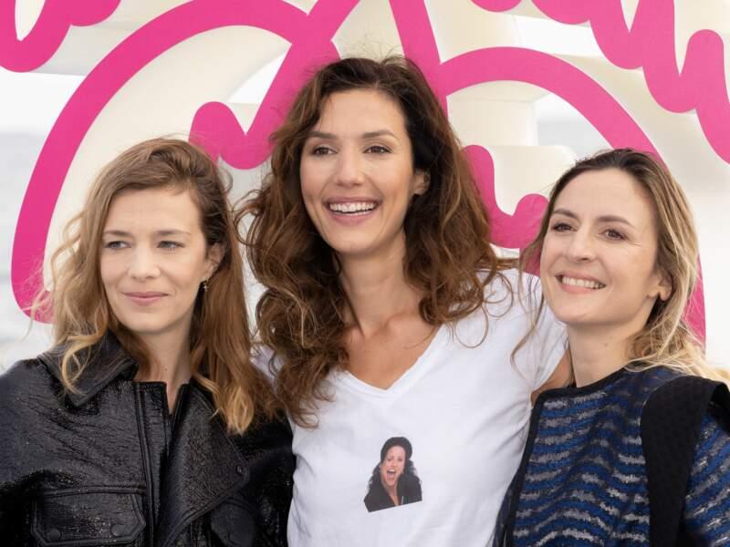 Celine Sallette, Doria Tillier et Camille Chamoux prennent la pose pour l'ouverture du festival