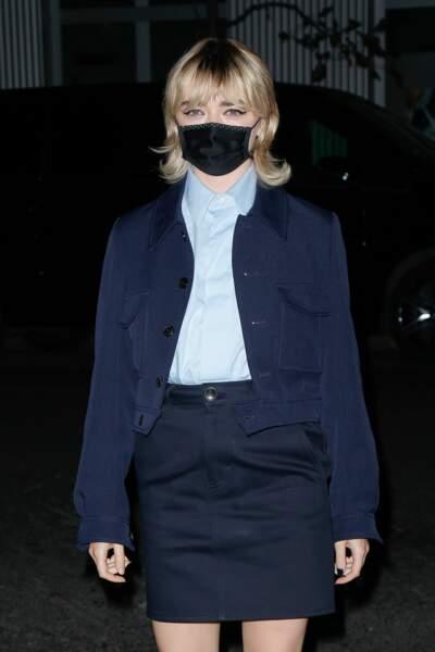 Avant de choisir le blond tout court, masquée lors de la Fashion Week
