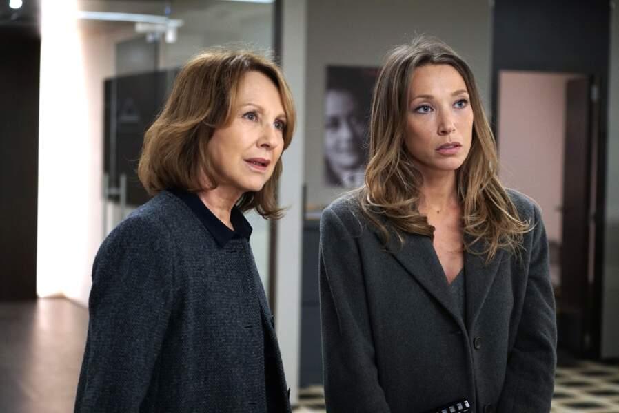 Nathalie Baye et sa fille Laura Smet ont aussi participé à la saison 1. Et si elles font cette tête, c'est parce qu'elles se voyaient proposer le même scénario !