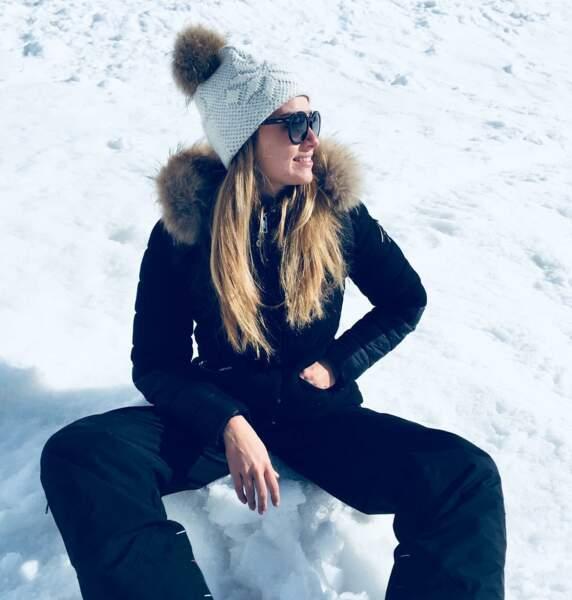 Elle adore aussi passer ses vacances à la neige !