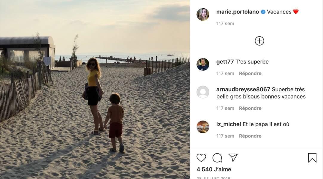 Il est aussi parfois possible de voir des jolies photos de vacances avec son fils, James (6 ans).