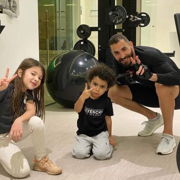 Voici les enfants de Karim Benzema, Mélia et Ibrahim.