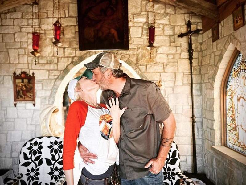 """Une très belle nouvelle : Gwen Stefani et Blake Shelton se sont dit """"oui"""". Toutes nos félicitations !"""