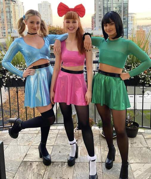 Les stars de la série Riverdale, Lili Reinhart, Madelaine Petsch et Camila Mendes se sont déguisées en Super Nanas