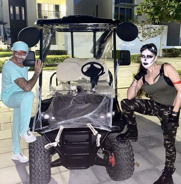 Julien Tanti et Manon Marsault fêtent Halloween comme il se doit