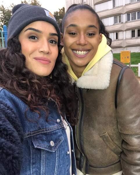 Selfie entre sœurs de cœur pour Sabrina Ouazani et Laetitia Kerfa, nouvelle actrice de la série Validé.