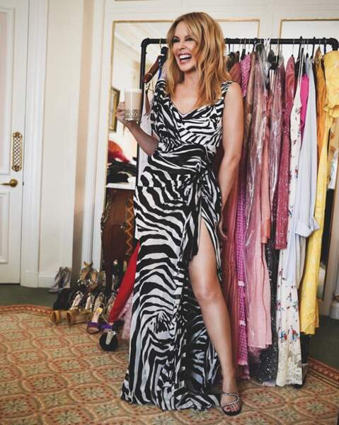 Kylie Minogue voyait la vie en zèbre.