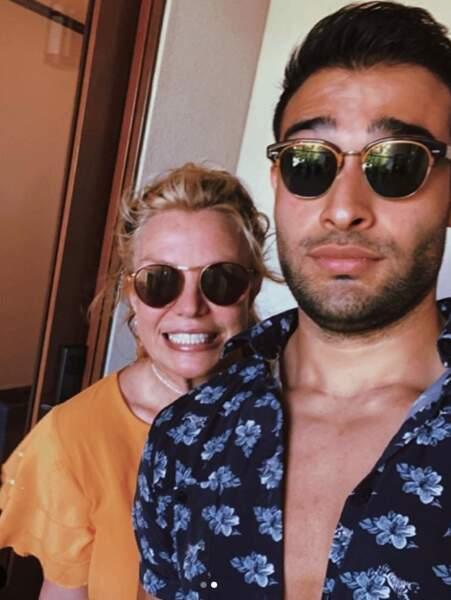 Les amoureux Britney Spears et Sam Asghari en vacances.