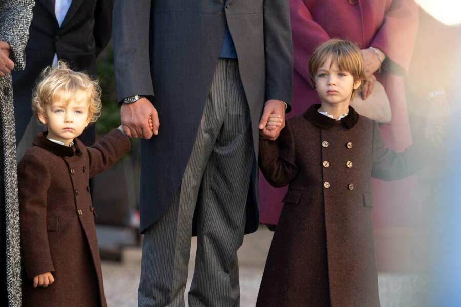 Francesco et Stefano Casiraghi, les enfants de Pierre, atout charme et mignonnerie de cette journée