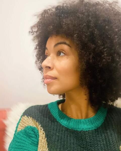 La belle coupe afro d'Aurélie Konaté.