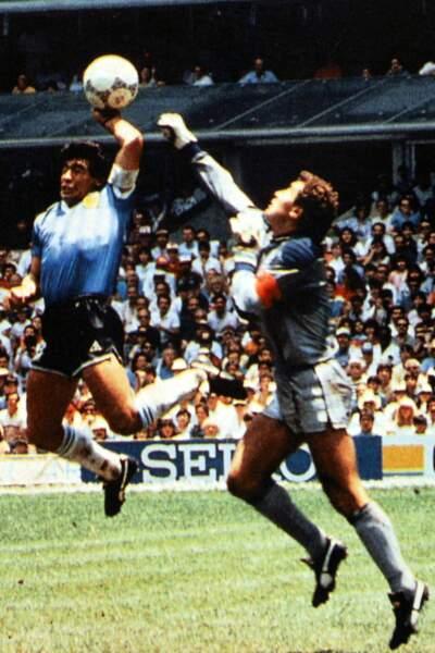 "Selon lui c'était la ""main de Dieu"" ... Argentine-Angleterre, juin 1986."