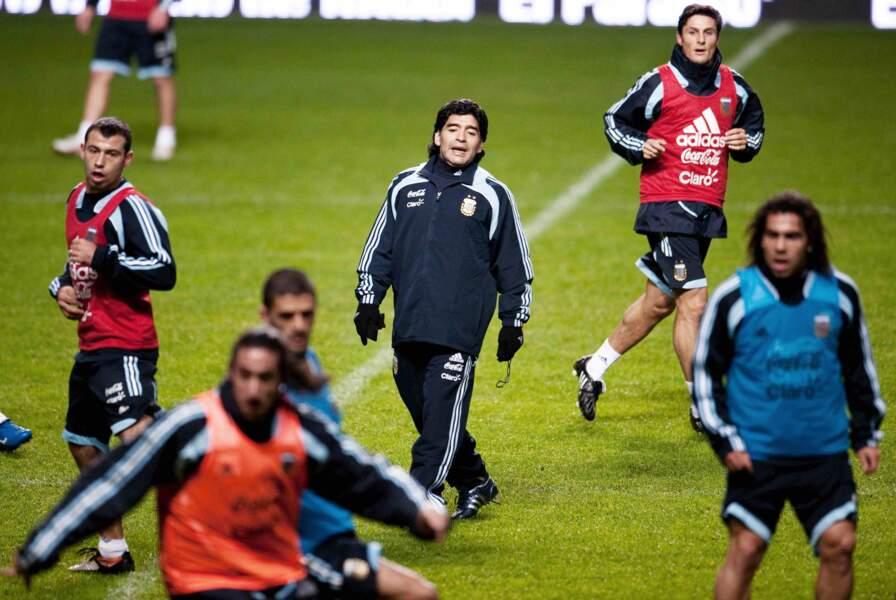 Diego Maradona est nommé entraineur de l'équipe national d'Argentine en 2008.