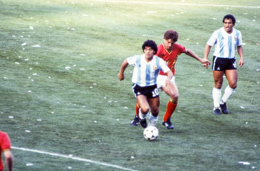 Contre la Belgique lors de la Coupe du monde 1982
