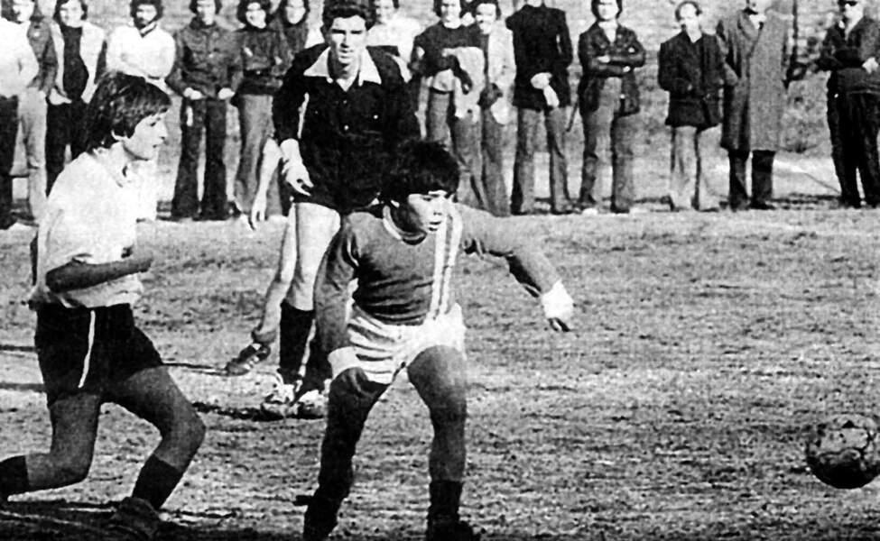Diego Maradona dans l'équipe junior d'Argentine en 1970.