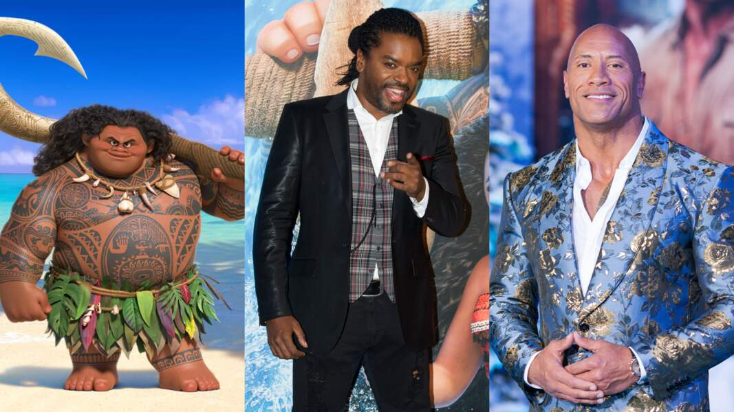 """Maui (""""Vaiana"""") est grand et costaud... comme Anthony kavanagh et Dwayne Johnson"""