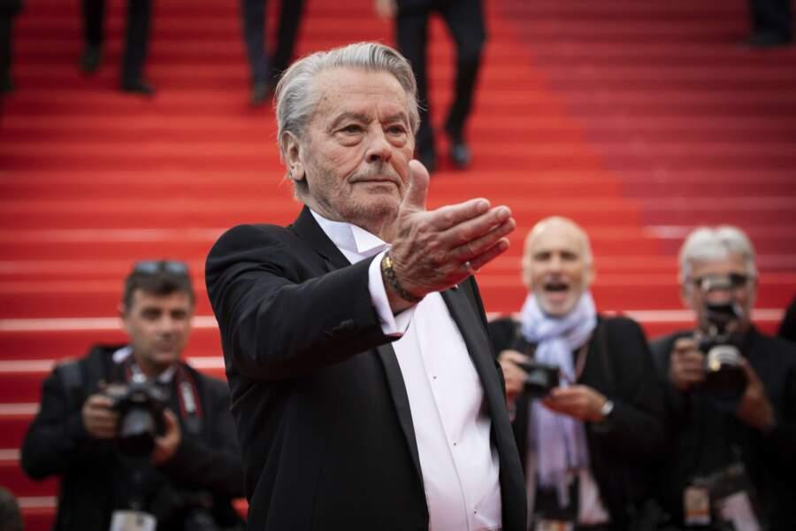En 2019, Alain Delon reçoit une Palme d'or d'honneur au Festival de Cannes